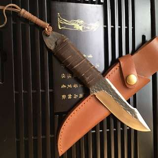 High Hardness Super Sharp Camping Hunting Knife 高硬度锋利野外防身狩猎刀#422