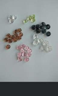 Crystal DIY buttons