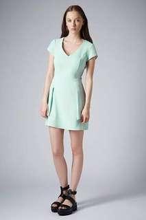 Barely Worn Topshop Mint Green Dress