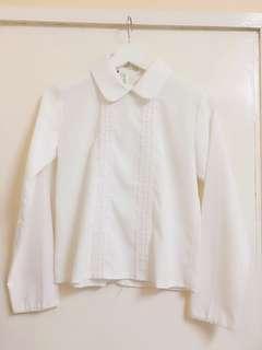 School Style White Shirt