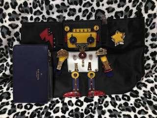 Prada tote robot w/ free Kate Spade wristlet