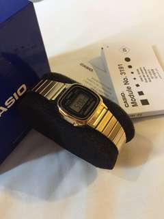 Casio watch gold plated