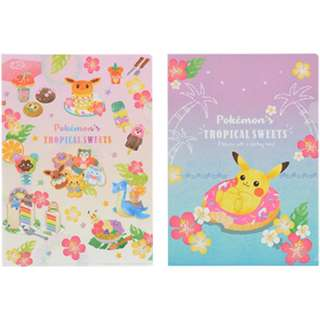 Pokemon Center Exclusive Tropical Sweets Series A4 Clearfile 2pcs set (Pre-Order)