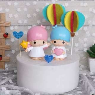 Little Twin Stars Cake Toppers Figurines