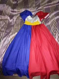 Filipiniana long dress (For 10-12 years old!)