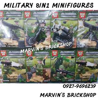 For Sale MILITARY 8in1 Minifigures Building Blocks Toys