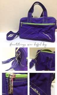 Heartstrings mini duffel bag (violet)