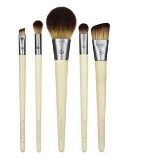EcoTools, Start The Day Beautifully Brush Set, 5 Piece Set & Storage Tray