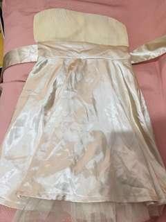 🚚 黃色平口洋裝