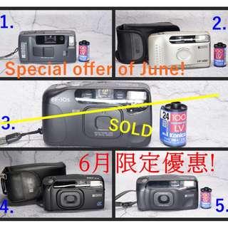 🚨6月限時特價!! RICOH Special Offer of June!! Vintage point and shoot Film Camera TESTED WORKING 菲林相機 傻瓜機