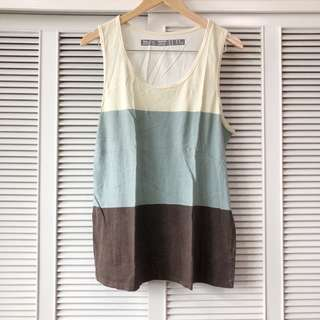 Forever 21 Men's Yellow Blue Grey and Brown Shirt