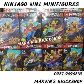 For Sale NINJAGO 8in1 Minifigures Building Blocks Toys