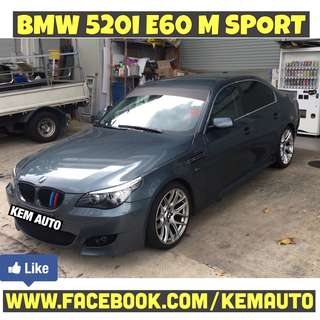 "Modded Loud BMW 520I E60 M5 bodykit with Exhuast 19"" rims BremBo BBK"