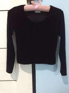 Black Velvet Long sleeves top
