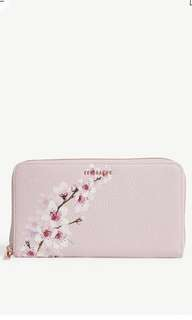 斷貨Ted Baker kohel floral grained leather purse