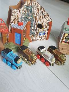 Thomas & Friends The Great Discovery Talking Railway Series Wooden Train Track