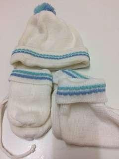 Topi baby, mitten, booties