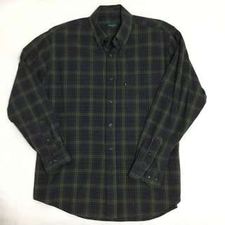Bossini Green Patterned Long Sleeves Sale Medium