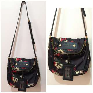 Marc Jacobs Red Floral Printed Crossbody Sling Bag
