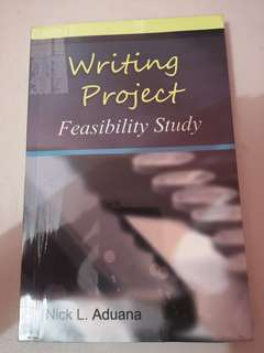 Writing Project:Feasibility Study with plastic cover