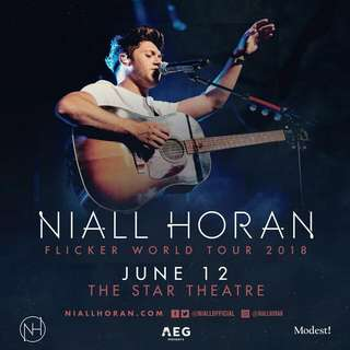 Ticket for Niall Horan Flicker World Tour in Singapore