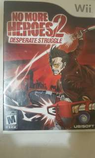 No More Heroes 2 Desperate Struggle Wii Second Hand