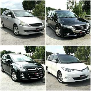 """Spacious MPV For Long Term Leasing !! Cheap Car Rental ! Most Affordable Rental Fee ! << No Private Hire Blue Decal >> Click Into """"Ideal.Rental"""" To Browse Full Selection"""