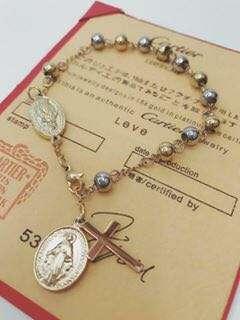 stainless rosary bracelet