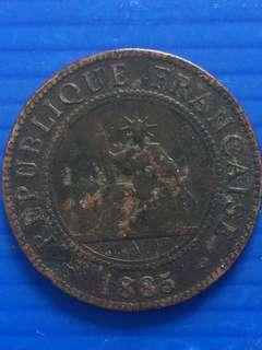 Indo- Chine 1 C 1885
