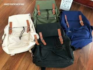 Canvas Leather Mens Backpack