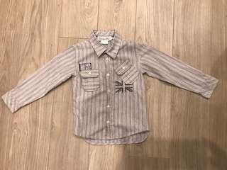 🚚 Christine Dior 帥氣條紋男童襯衫