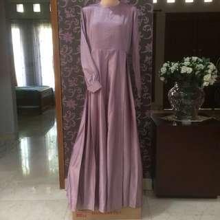 Lavender emboss dress