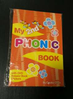 (New)My 2nd Phonic Book with DVD/Answer Book/Stickers