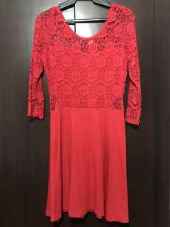 Red lace dress from H&M