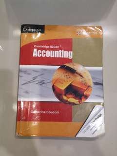 Cambridge IGCSE Accounting textbook