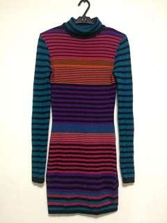 Stripes body con dress