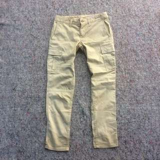 BROCANTE REGULER CARGO LONG PANTS CREAM SLIM FIT