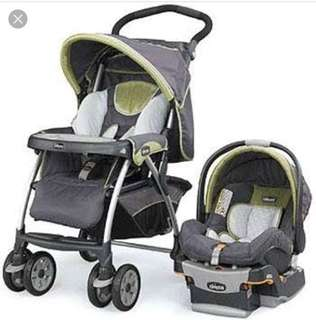 Chicco stroller and carseat