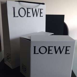 Loewe box and paper bag