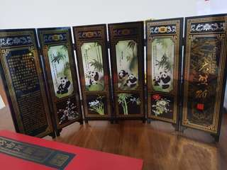 Fengshui folding table divider