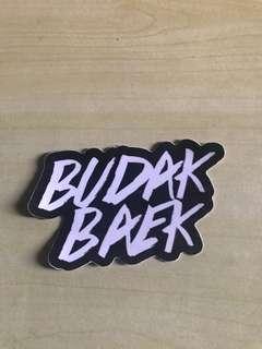 Budak Baek Sticker