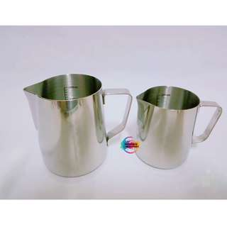 Round Mouth Stainless Steel Milk Frothing Steaming Pitcher with Measurement
