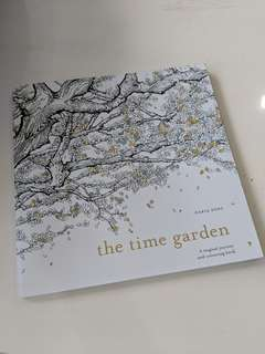 Brand new Adult coloring book - time garden