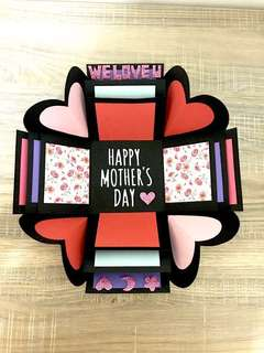Mother's day Box Card (customized with photos and messages)