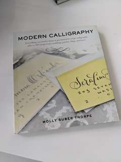 Pristine condition modern calligraphy instruction book