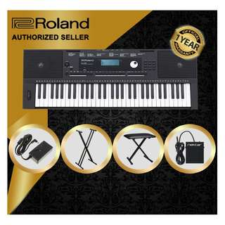 The Pianist Studio | Authorized Seller - Roland E-X20 61 Keys Arranger Keyboard Piano with Keyboard Stand and Keyboard Bench and Sustain Pedal Singapore Sale