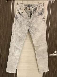 H&M 刷色煙管褲