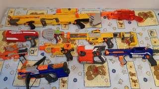 NERF GUNS!!!