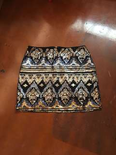 FOREVER21 Size L Sequin Party Skirt