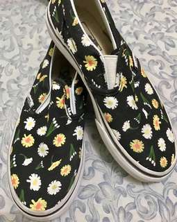 Vans Classic Slip on flower design